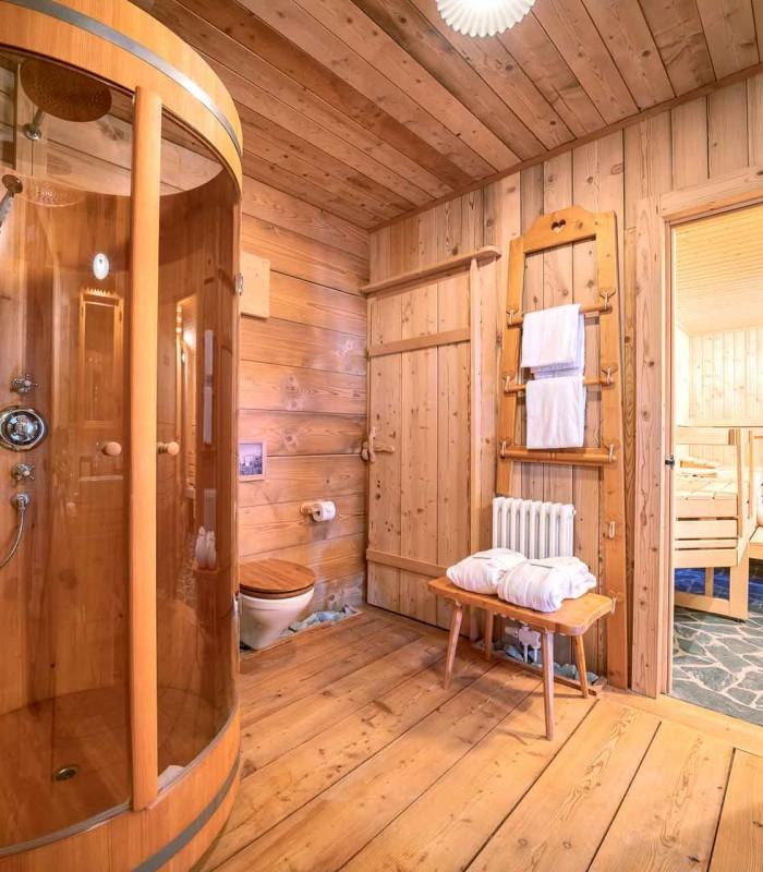 Bergchalet Badezimmer 1