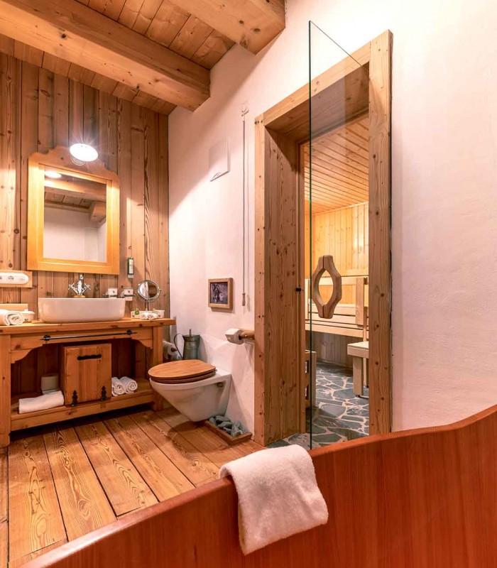 Bergchalet Badezimmer 2
